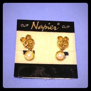 Napier Vintage clip earrings